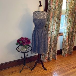 Bill Levkoff gray lace dress *serious alterations*
